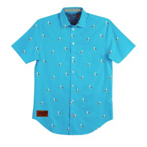 Beach Chicken BBQ Shirt – Mens