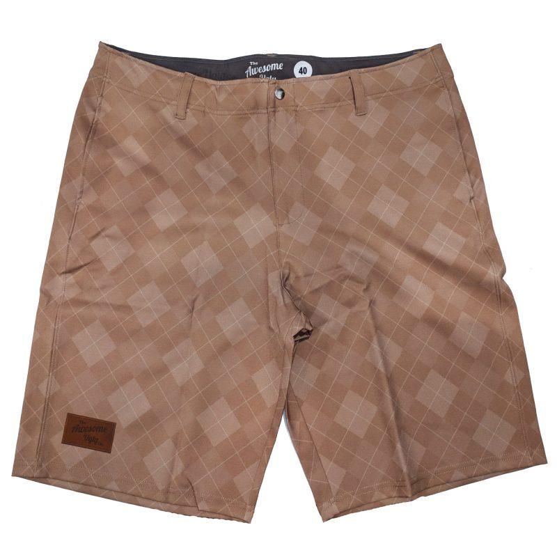 Tan 19th Hole Casual Golf Shorts – Mens