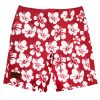 Red Hibiscus Casual Shorts – Mens