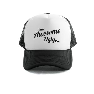 Awesome Ugly Trucker Cap – Black/White